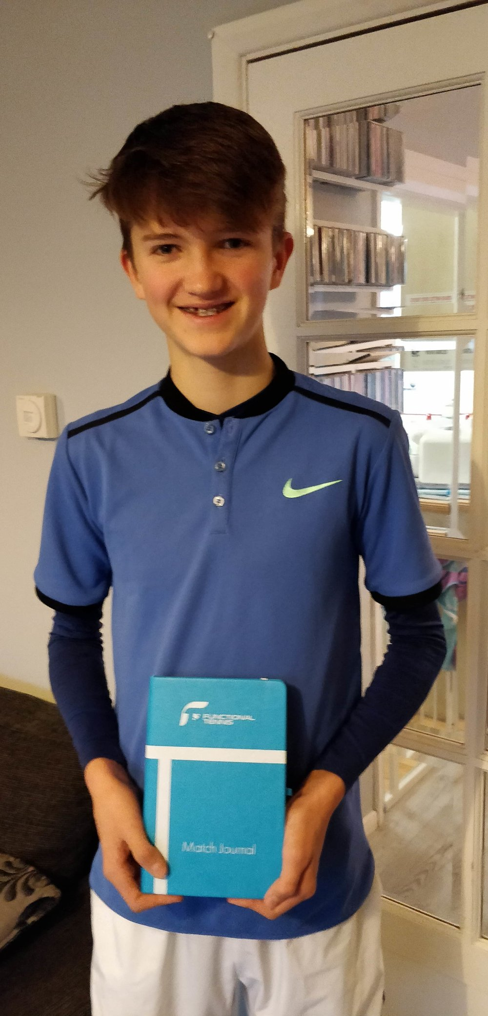 Me with my  @functionaltennis  match journal