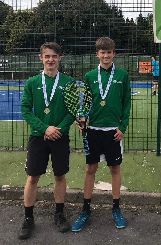 Sam with his u16 doubles partner Matt Sime