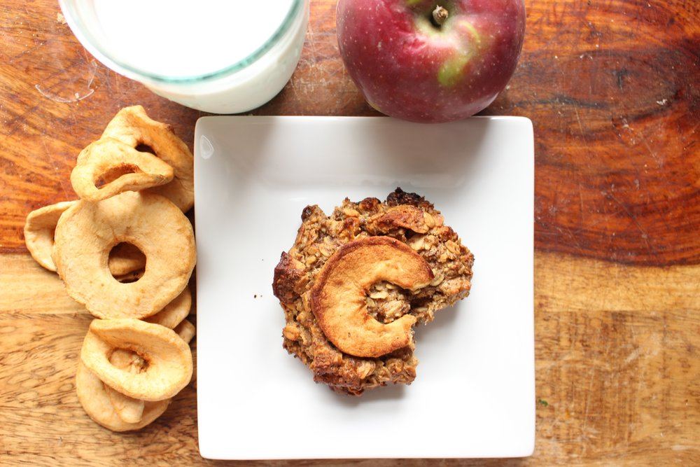 Apples and honey breakfast cookies