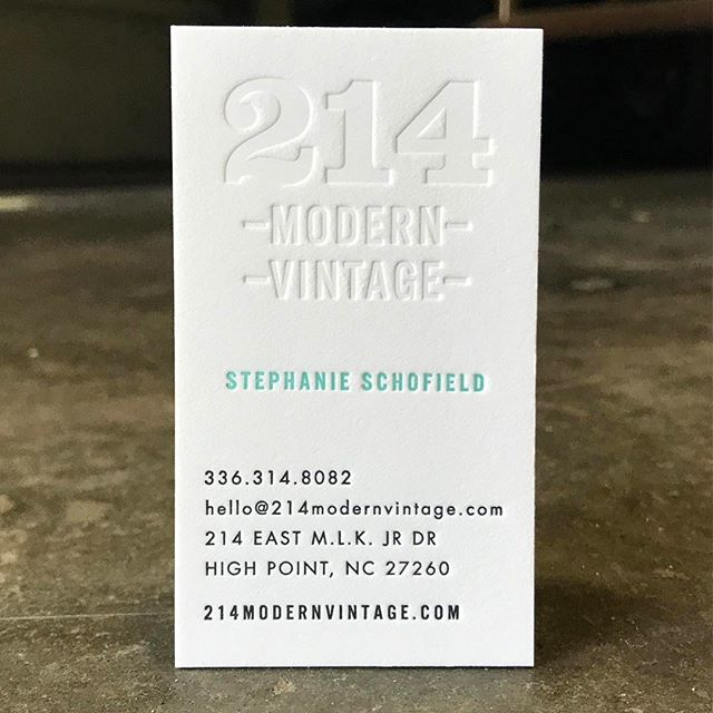 Love getting to work on business cards for @214modern and we wish them a wonderful @highpointmarket #hpmarket2017