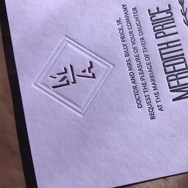 #letterpress #weddinginvitations