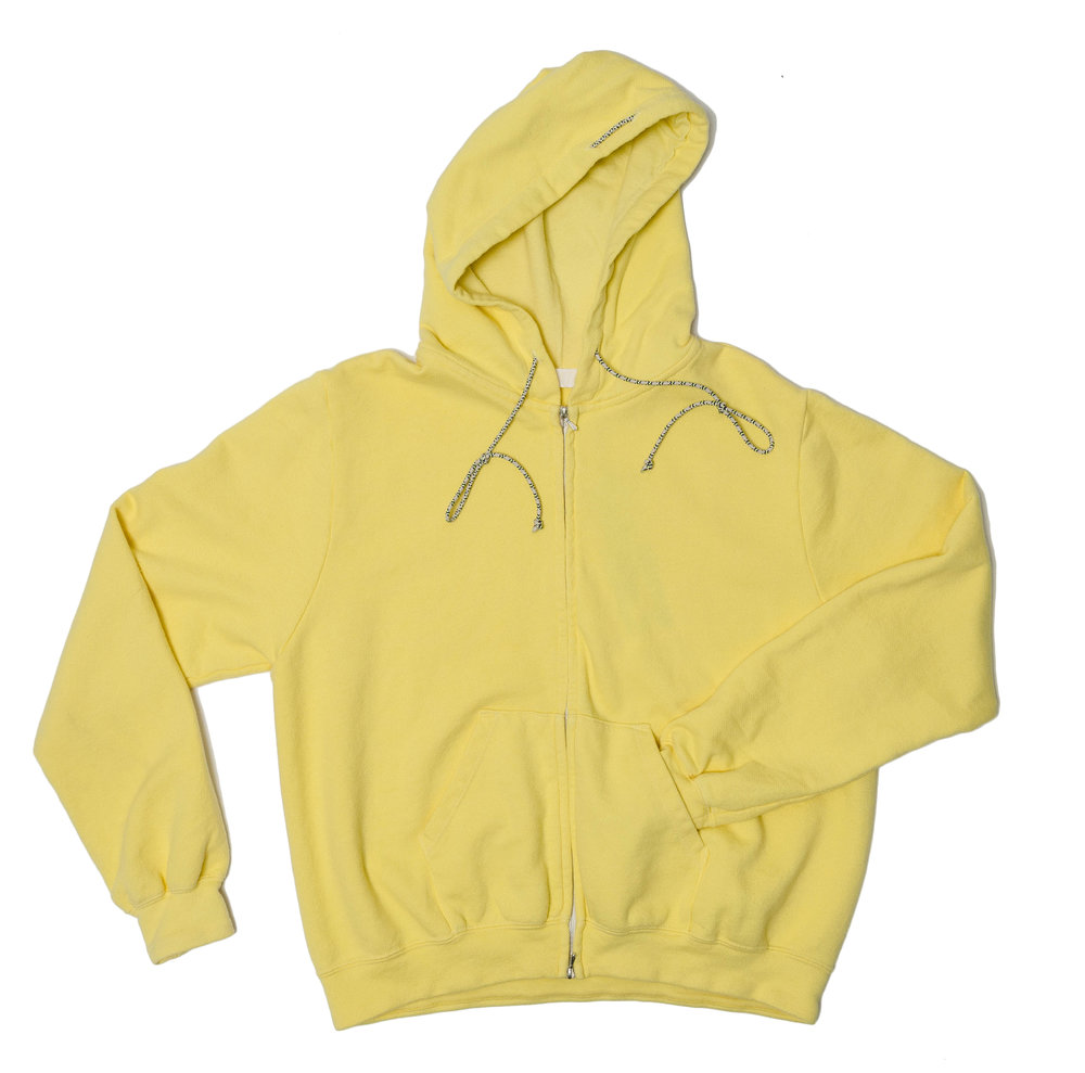 lemon, (or black not pictured) cotton knit hooded sweatshirt