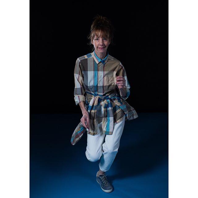 Nancy Guppy in Engineered Garments FWK madras jacket and shirt.⠀ .⠀ .⠀ .⠀ .⠀ .⠀ .⠀ .⠀ .⠀ .⠀ .⠀ #engineeredgarments #FWK #nepenthes #madras #womenswear #madeinnewyork #slowfashion