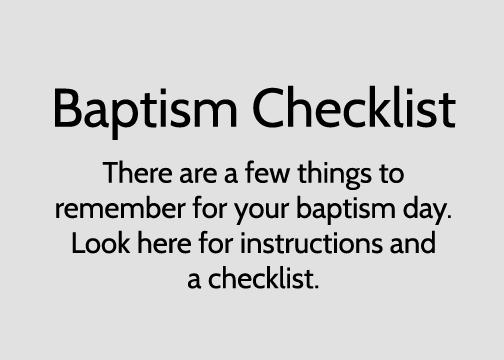 Baptism Checklist