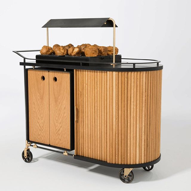 🙌🏼POPOVER CART!! YB made this beaut about a month ago. Cannot speak more highly of the boys at @ironoaks for bringing us on for this. Shout out to @goodshopmanufacturies + Neiman Marcus, as well as my talented team @ YB. 😘 #youngbukfabrications