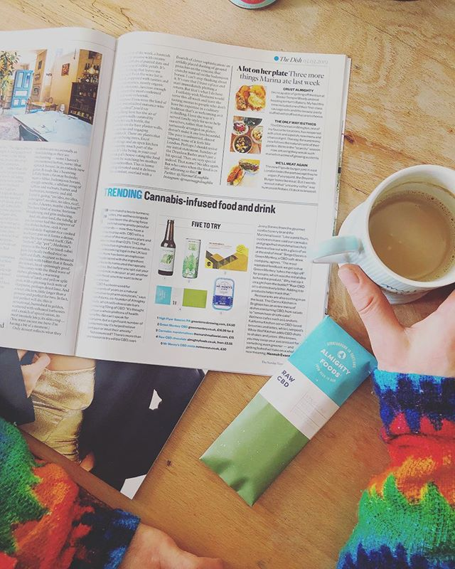 Our CBD chocolate made it into the @thestmagazine article, Trending cannabis infused food and drink.  We are honoured to be at the forefront of innovative craft food and to be representing one of humans oldest plant allies, that is hemp!  Find a link on our website homepage www.almightyfoods.co.uk and why not treat yourself to a couple of bars.  #hemp  #lifestyle  #craft  #innovation  #cbdchocolate  #cbd