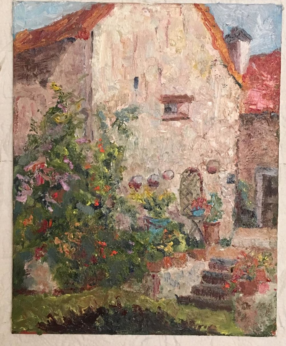 """The House in Back"" Plein air, Auvers-sur-Oise, France Oils 8 x 10"