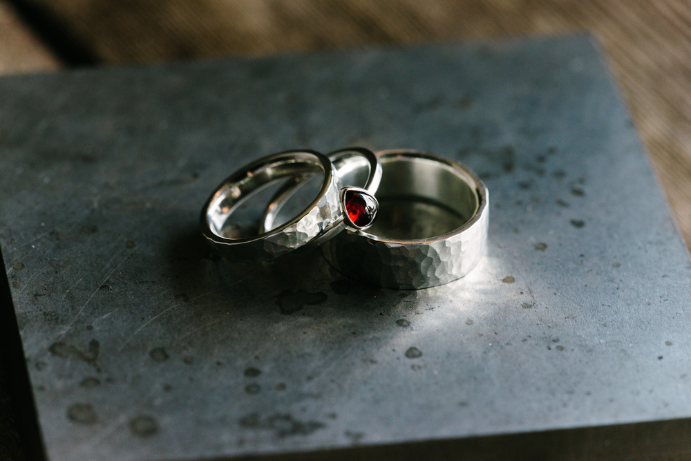 Amanda's His and Hers Wedding Rings - MeritMade handmade kansas city kc merit made kelly conner wedding rings matching