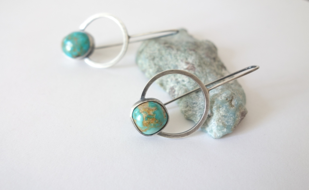 Turquoise Orbit Earrings by MeritMade