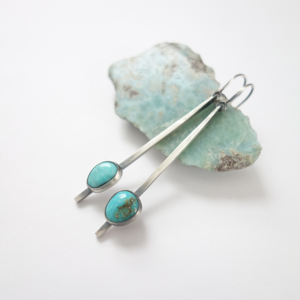 Turquoise Swing Earrings by MeritMade