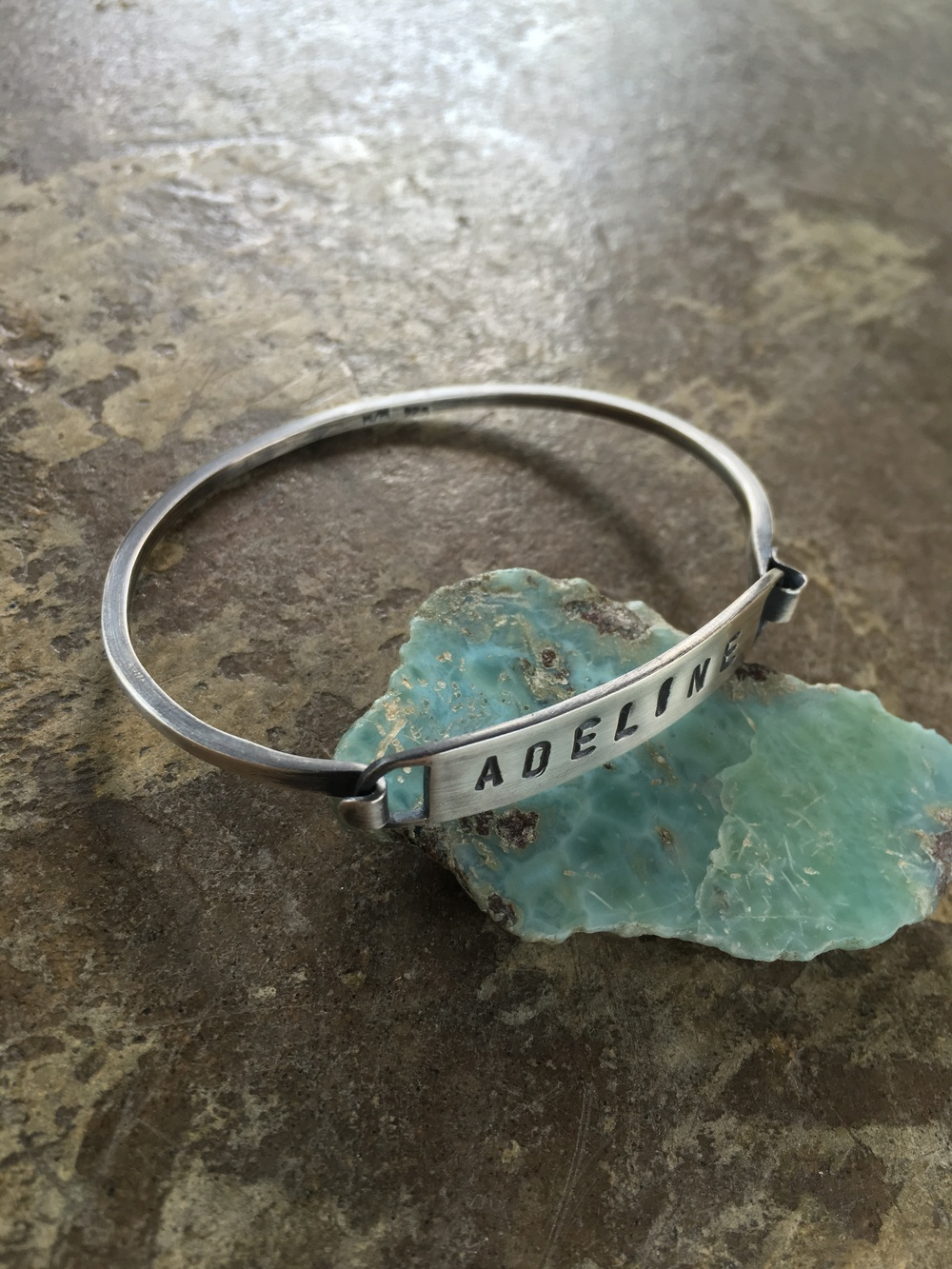 Name Bracelet by MeritMade kansas city Merit Made Kelly Conner jewelry