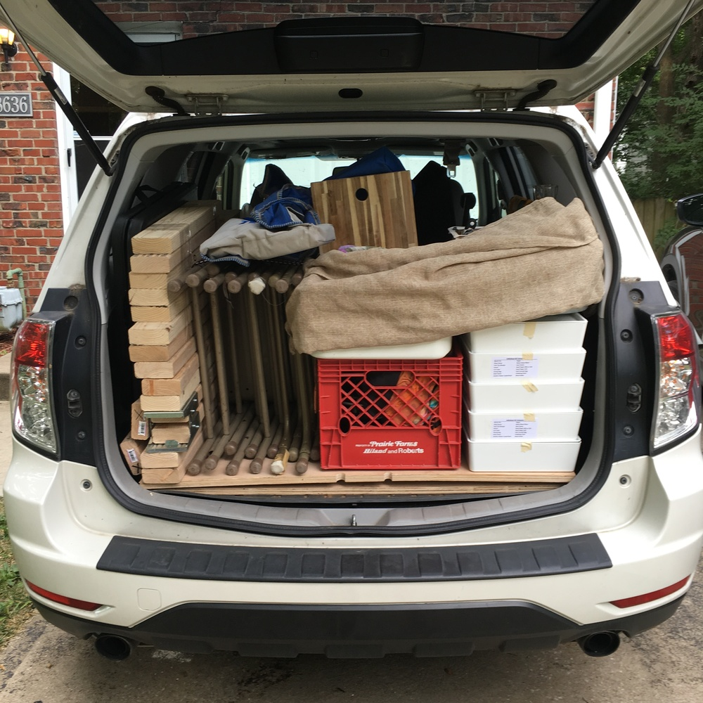 Frank, the Forrester, all loaded up and ready to go!