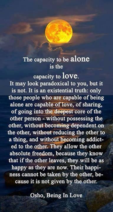 being alone is LOVE