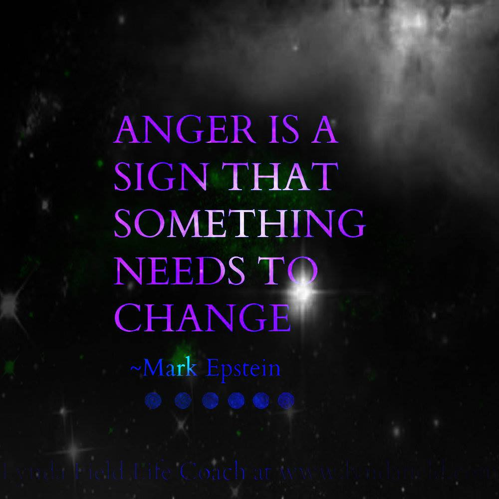 Anger is a sign
