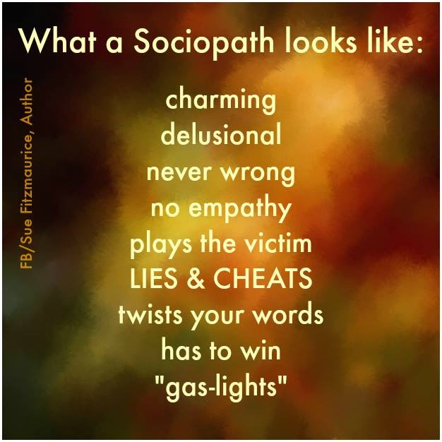 Sociopathic behavior has been the norm for my expectations of others, for many years