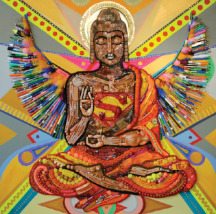 """Superman Buddha, Force Within"" by Elisa Insua."