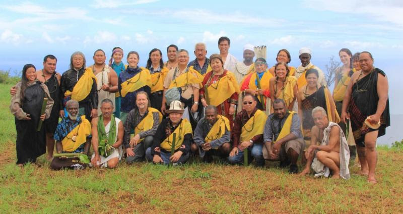 Sacred Site guardians and allies gather on Kaho'olawe before the IUCN World Conservation Congress