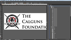 The original logo as supplied by the client in Adobe Illustrator.