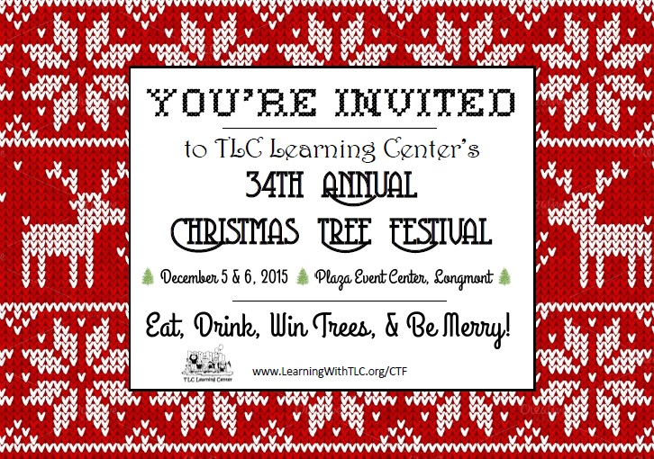 Holiday festival invitation postcard