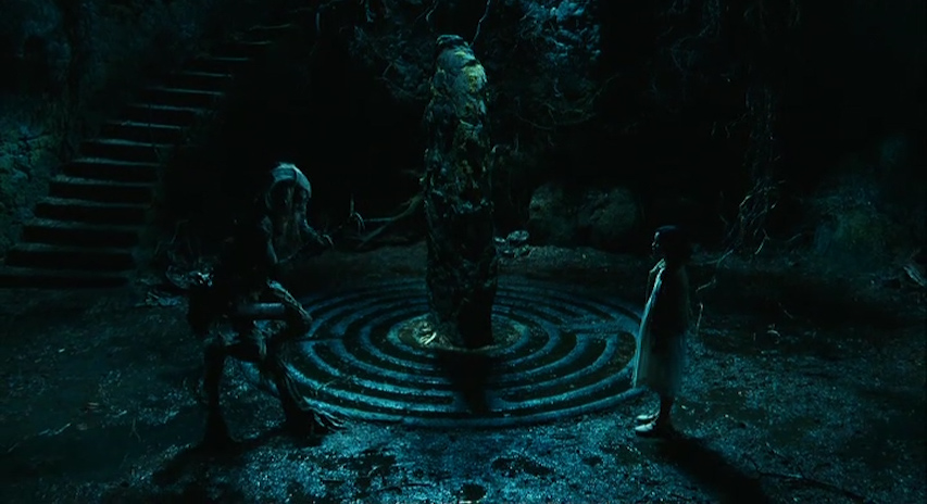 Ofelia and the faun in Del Tor's 2006 film Pan's Labyrinth