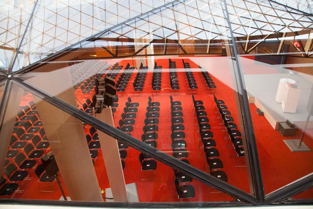 DZ Bank Glaskuppel über Vortragssaal