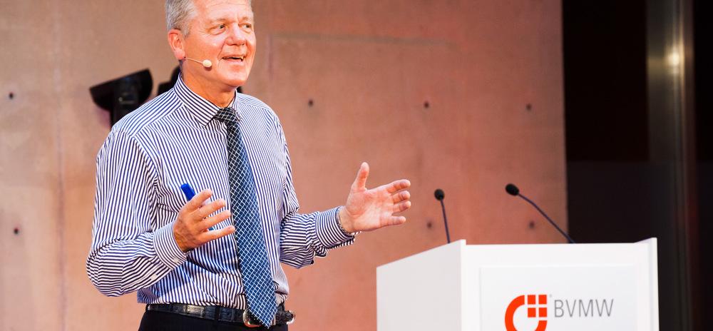 Eventfoto von Managementexperte Reinhard Sprenger beim BVMW