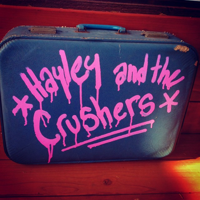 How did my first SLO Crushers show go? Well, nothing broke, fell off stage, or shattered. No police were called. I left a massive amount of lipstick on the mic. And my friends were there. : )