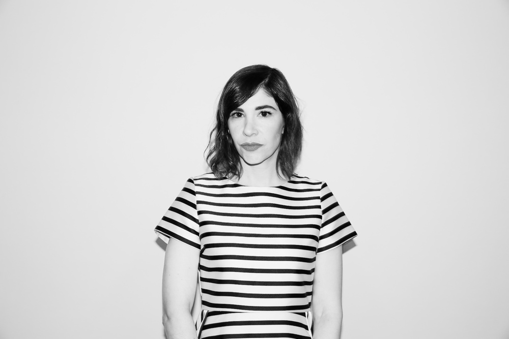 Carrie Brownstein isn't smiling. Is that OK with y'all?