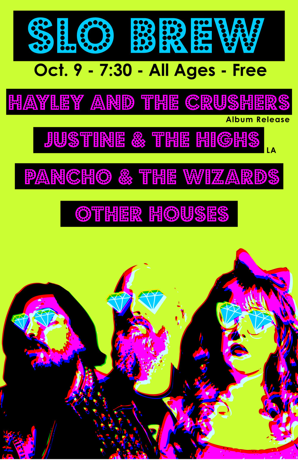 Our friends rule: Listen to  Morgan Enos,   Justine and the Highs,  and  Pancho and the Wizards.