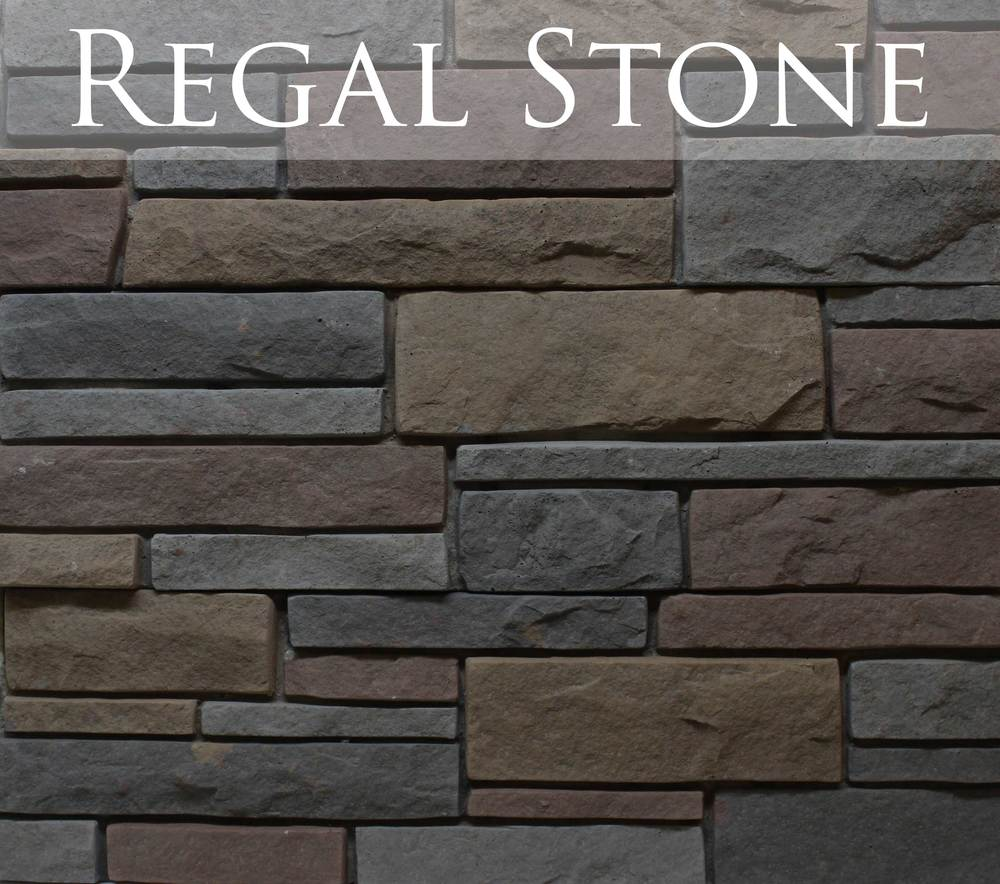 New for 2015! Regal stone marries fiery earth tones with dramatic contrast to give your project the POP it's looking for