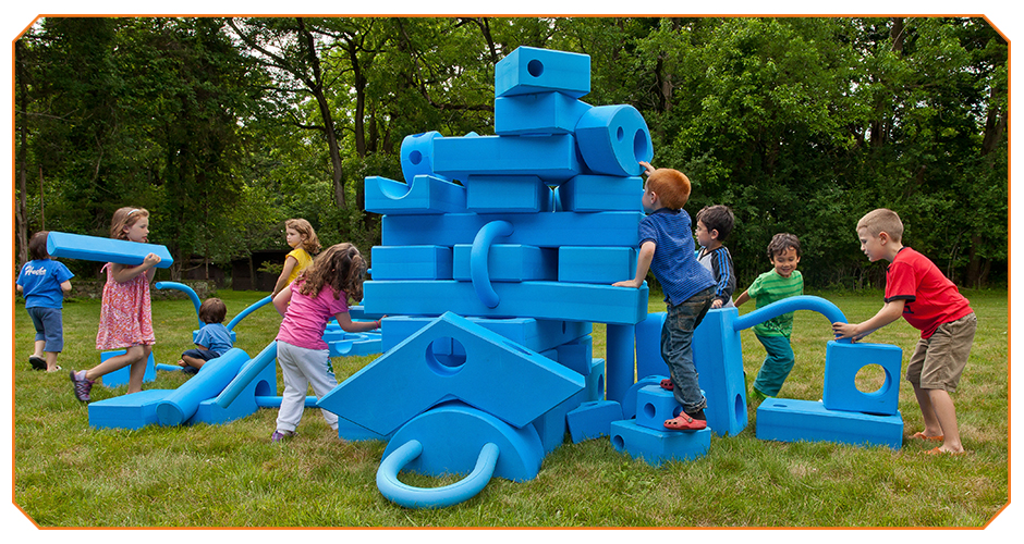 Image from Imagination Playground. These blocks are such a cool concept. We often visit the playground on Tuesdays at Klyde Warren!