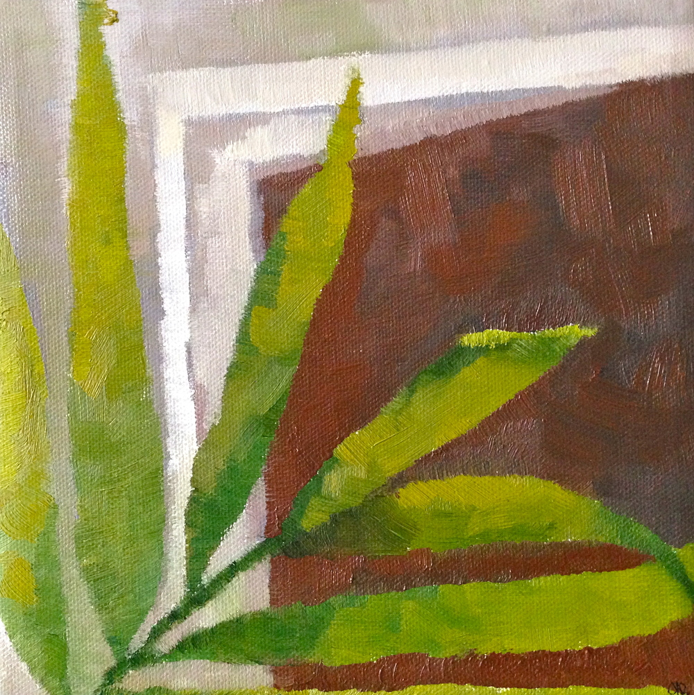 "Plant Series I , Oil in Canvas, 12 x 12"", 2013"