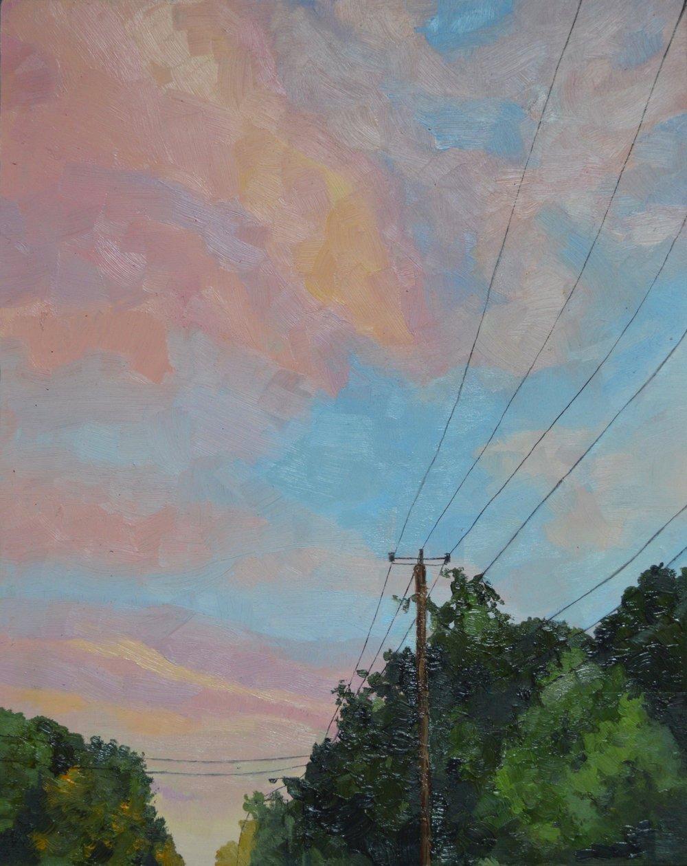 "En route,  Oil on Wood Panel, 8 x 10"", 2019"
