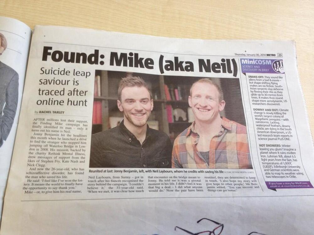 Finding Mike: The Stranger on the Bridge - The Metro