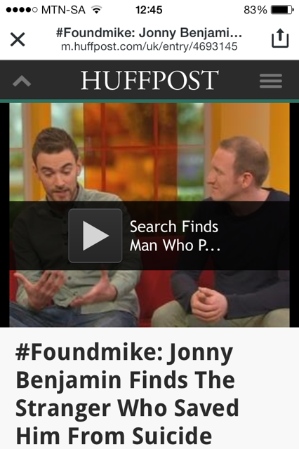 Finding Mike: The Stranger on the Bridge - Huff Post
