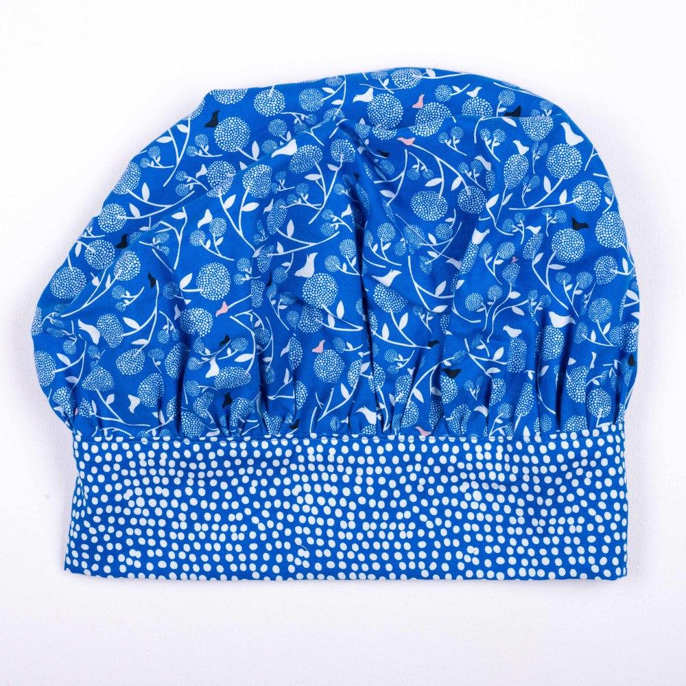 Skoo KidsKitchen Blue Floral Print Chefs Hat