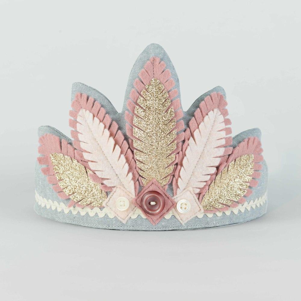 Dusky Pink & Gold Headdress