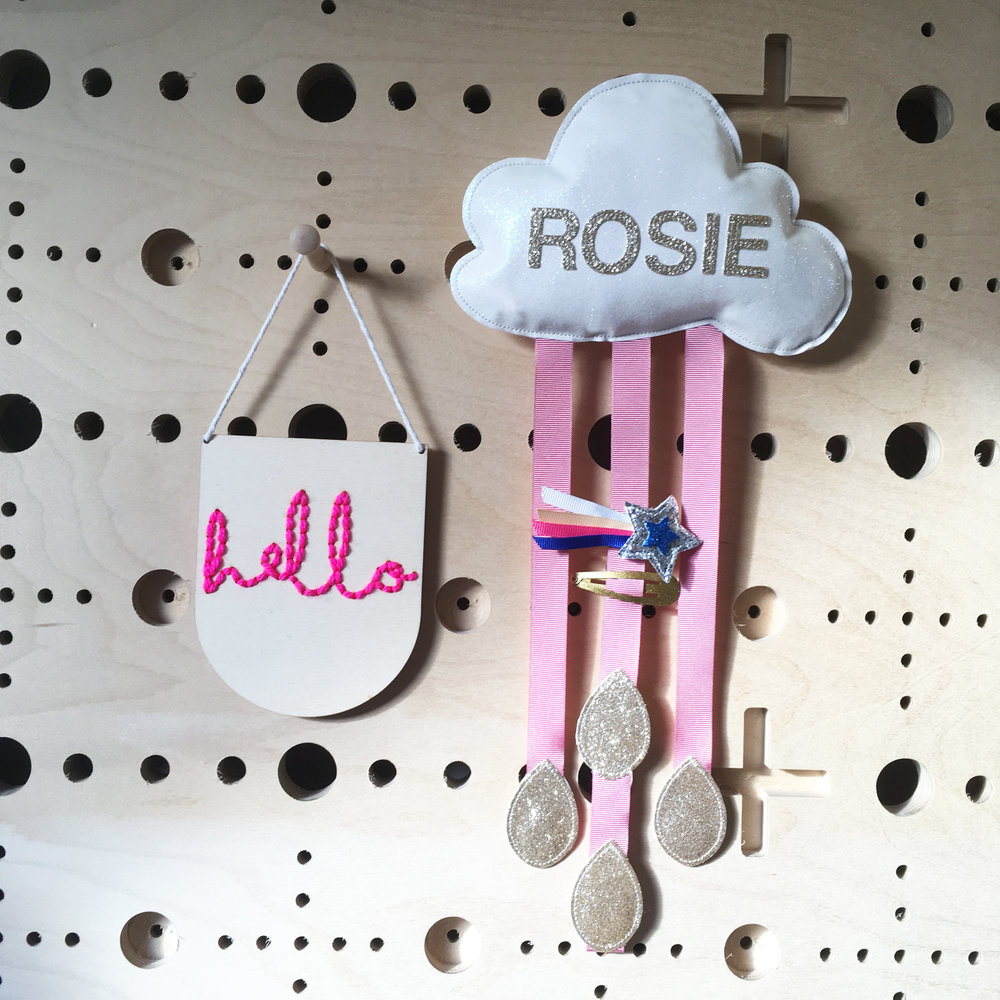 Dusky Pink Ribbon with Name & Raindrops in Gold
