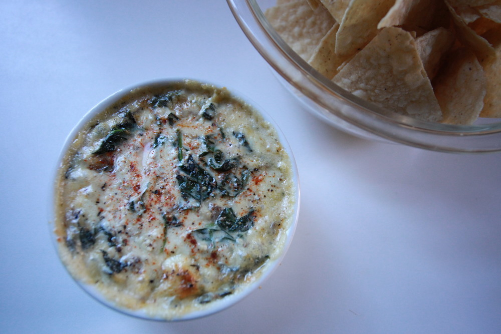 Ricotta + Spinach + kale + mushrooms + garlic dip