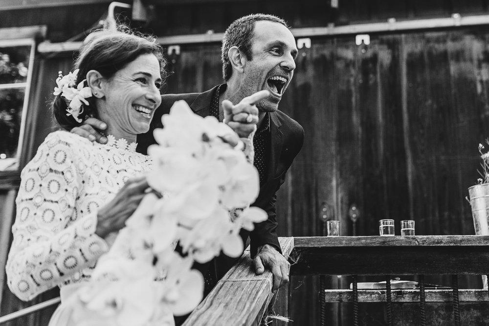 A newly married Nancy and Thom, photo courtesy of  Studio Kibo