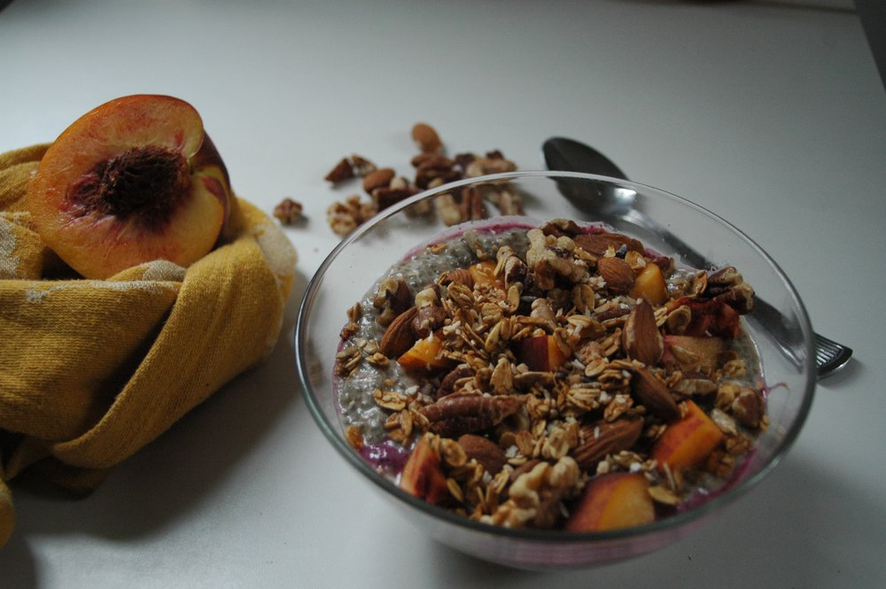 I make chia pudding at least once a week for breakfast. It's the best! Click the photo for recipe.