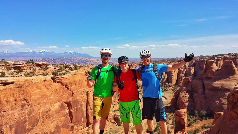 Dane, Brian and Matt getting rad in Moab before REVO opens!