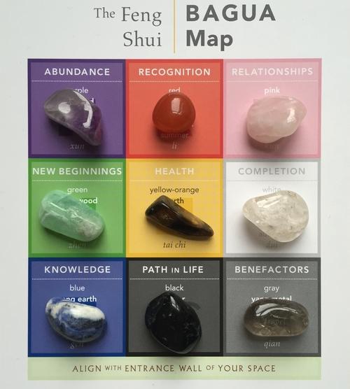 9 Feng Shui Bagua Natural Crystal Set Holistic Spaces