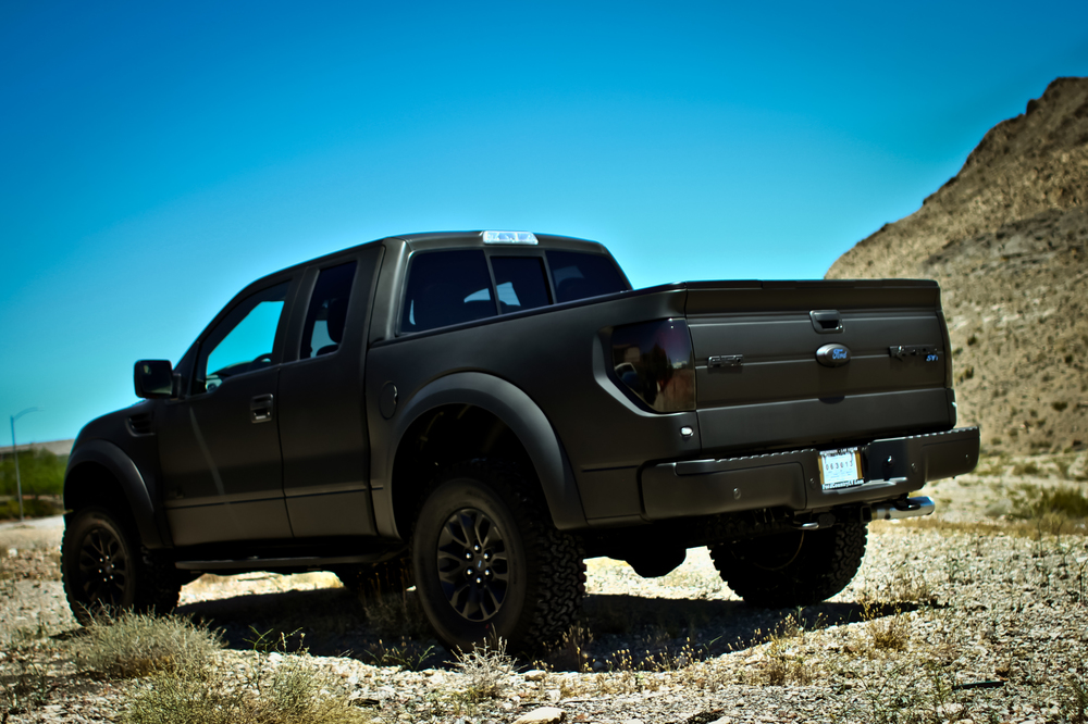 Image Gallery matte black ford raptor