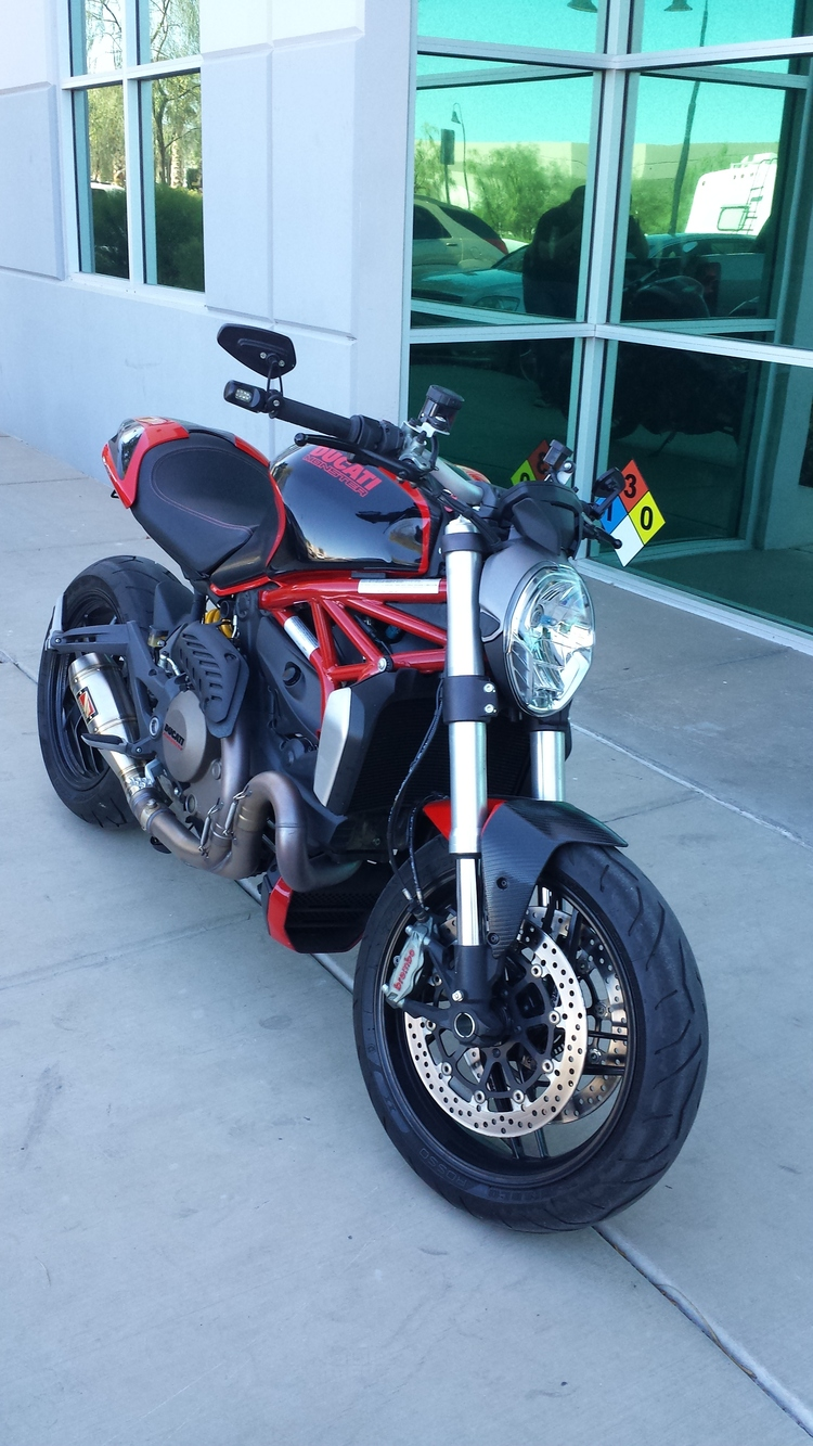Ducati Monster 1200 Gloss Black And Scratch Less Carbon Fiber