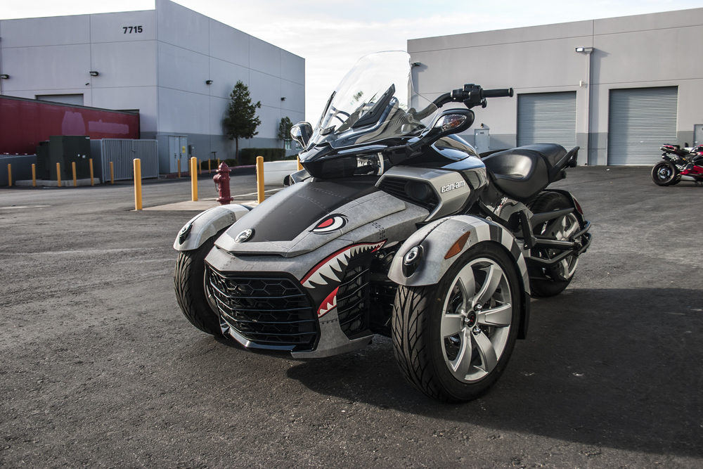 Can Am Spyder F3 P 51 Incognito Wraps