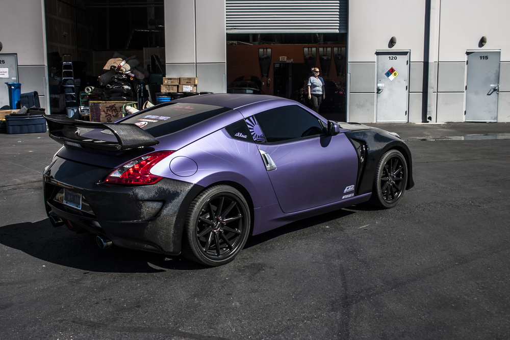 Nissan 370z Matte Metallic Purple Incognito Wraps