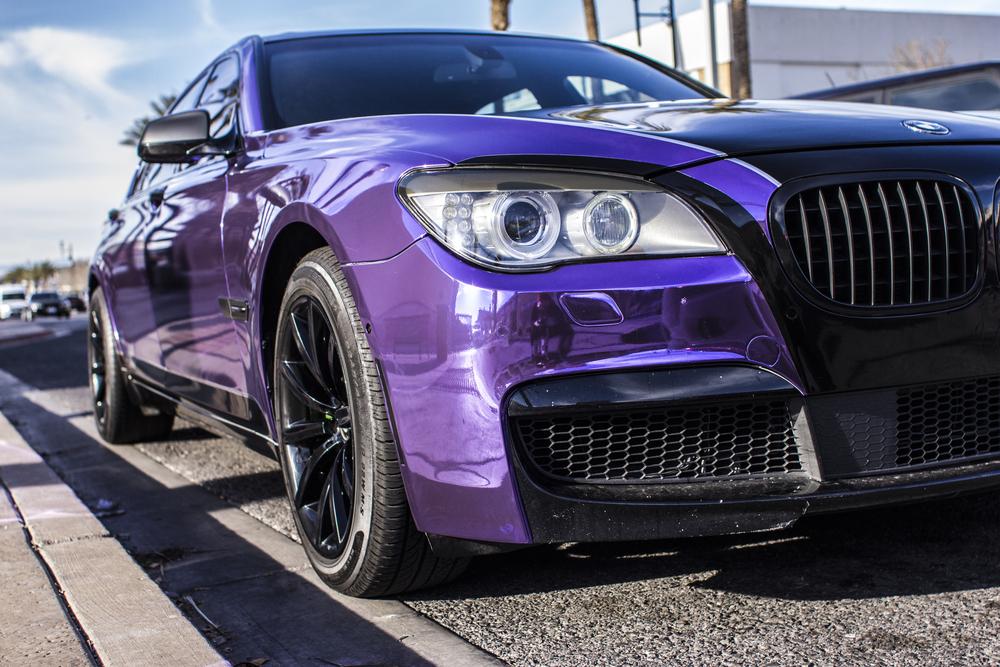 BMW 750Li - Purple Chrome — Incognito Wraps