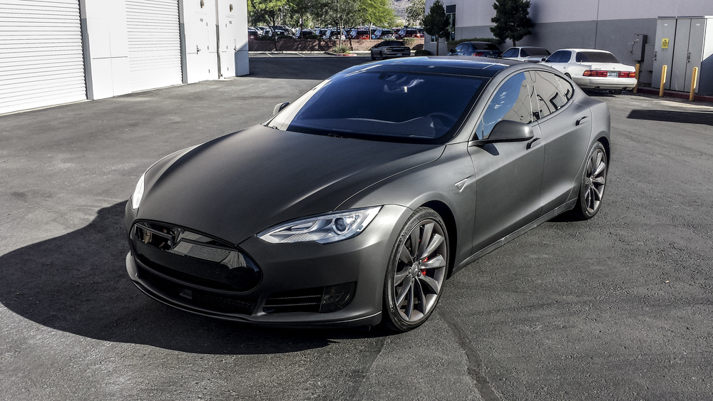 All black tesla