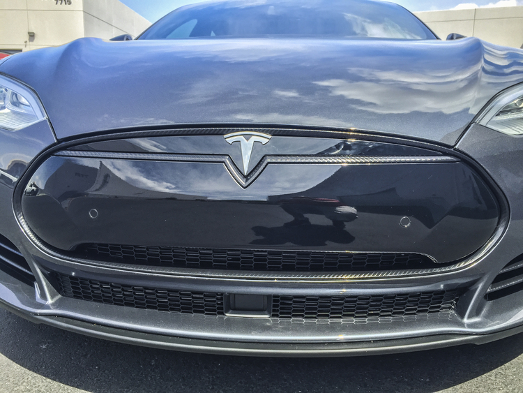 Tesla Model S Carbon Fiber Chrome Delete Incognito Wraps